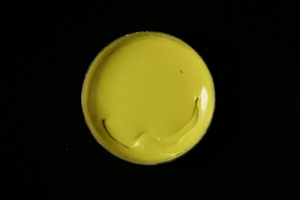 pojidlo: Primal AC35 (Kremer), pigment: Nickel titan yellow (Kremer)