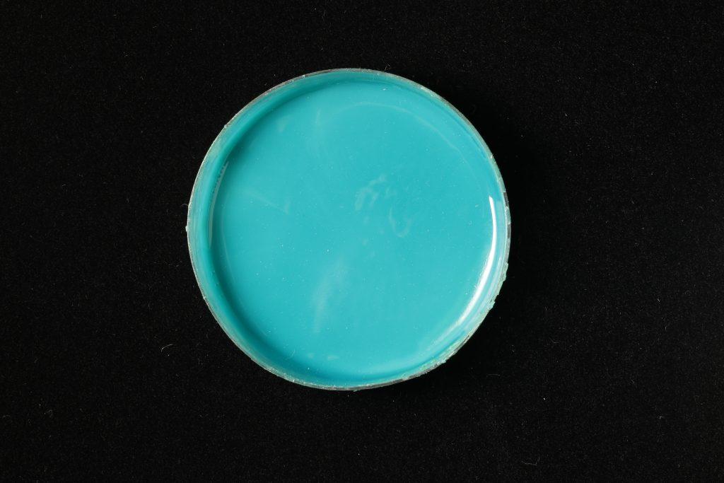 pojidlo: Dispersion 500D (Kremer), pigment: Malachite (Kremer)