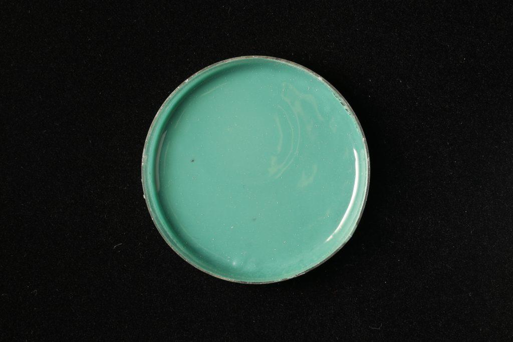 pojidlo: Primal AC35 (Kremer), pigment: Malachite (Kremer)